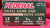 Federal 12ga Small Gam & Dove Load